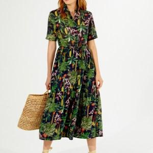 Vilagallo Eveline Attalea Print Dress