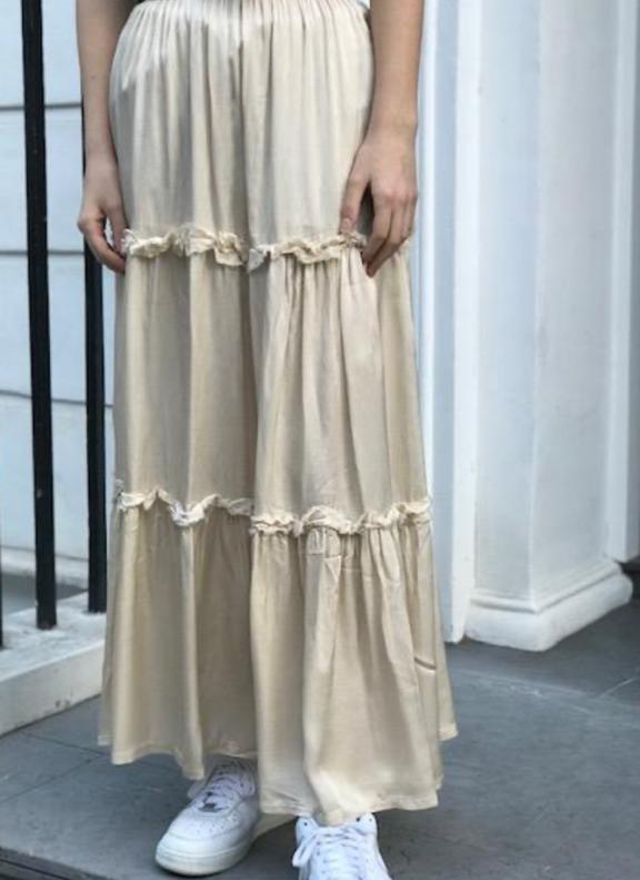 Maxi Skirts with Tiered Frill