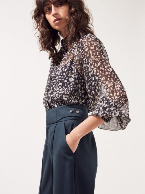 Levina Leopard Print Blouse