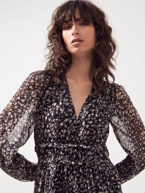 Chamila Leopard Print Lurex Dress