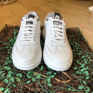 Maruti Leather White Sneakers
