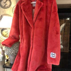Rino & Pelle Fuscia Red Faux Fur Coat