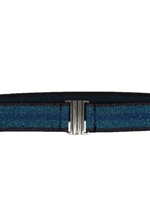 Lurex Belt in Blue