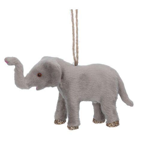 Gisela Graham Faux Fur Elephant Tree Decoration