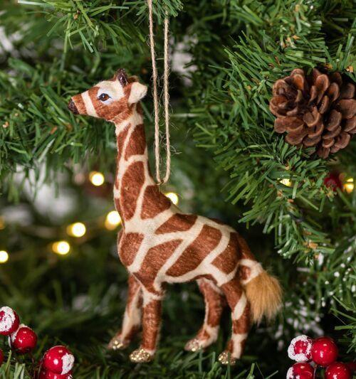Gisela Graham Faux Fur Giraffe Tree Decoration