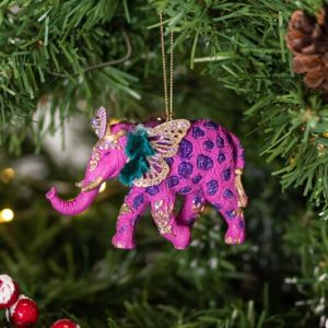 Gisela Graham Assorted Fantasy Elephant Resin Tree Decoration
