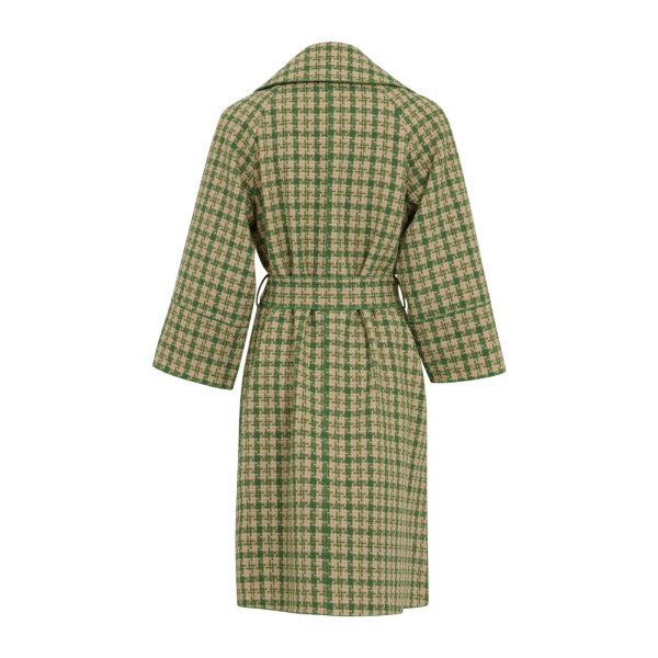 Green Checked Coat