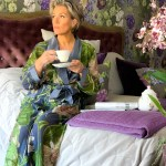 Passion Flower Grey Dressing Gown