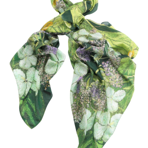 North Hydrangea Lime Green Scarf