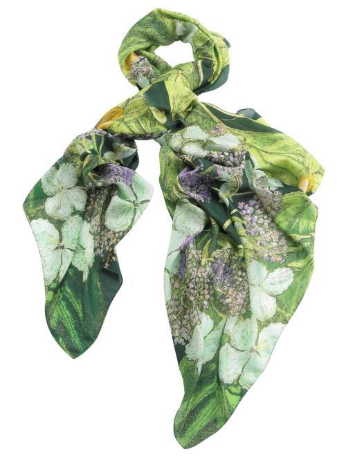 North Hydrangea Lime Green Scarf