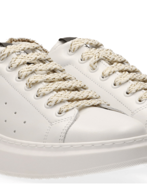 Claire Sneakers in White & Beige