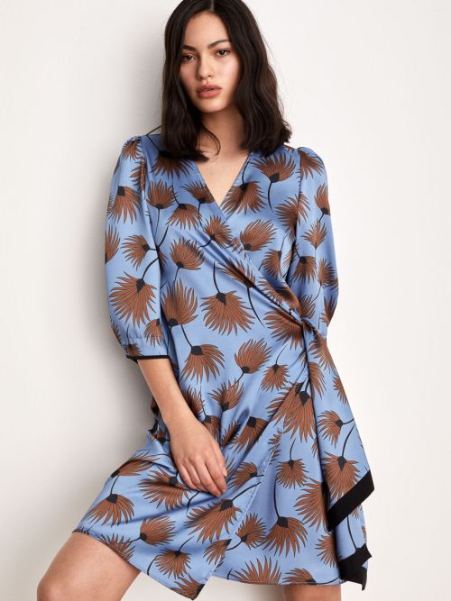 Patterned dress in Sky Blue