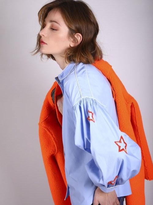 Blue Shirt with Embellished Stars
