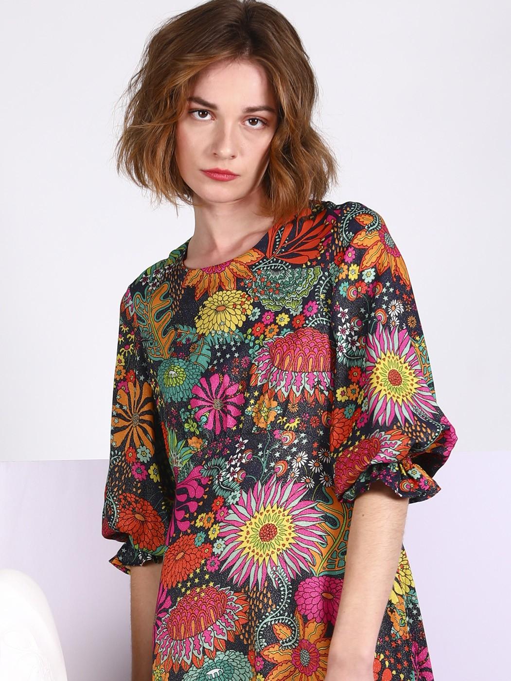 Kara Dress Crawley NV Print