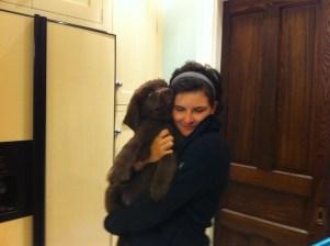 Maisie's first goodbye
