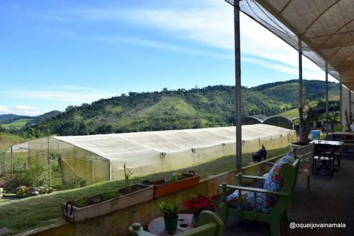 Vista do restaurante em Maria da Fé