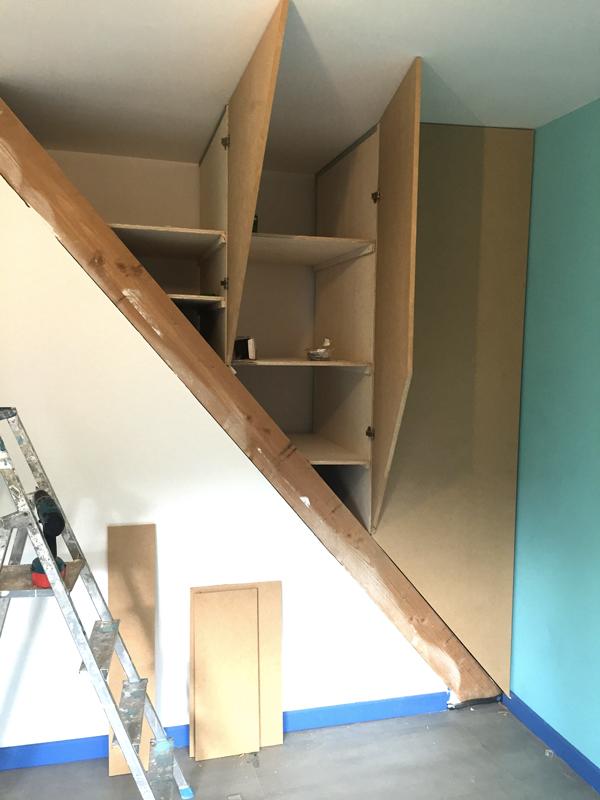 #ASTUCE : Transformer une cage d'escalier en placard
