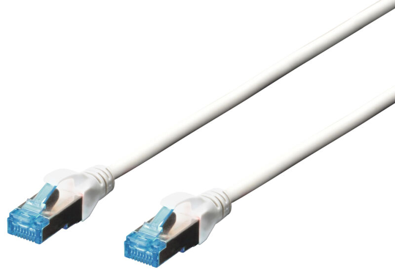 Câble RJ-45, Cat.5e, F/UTP, 3 m, bleu/gris