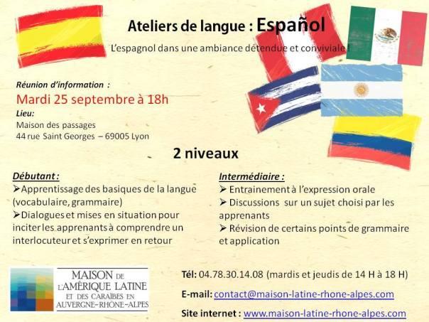 Réunion d'informations atelier d'espagnol 2018/2019