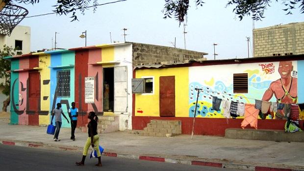 De Lart De Rue Dans La Mdina De Dakar