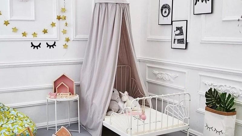 ciel de lit pour enfants rond ou