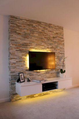 Fixer Tv Au Mur : fixer, Salon, Coins, Aménager, Attendre