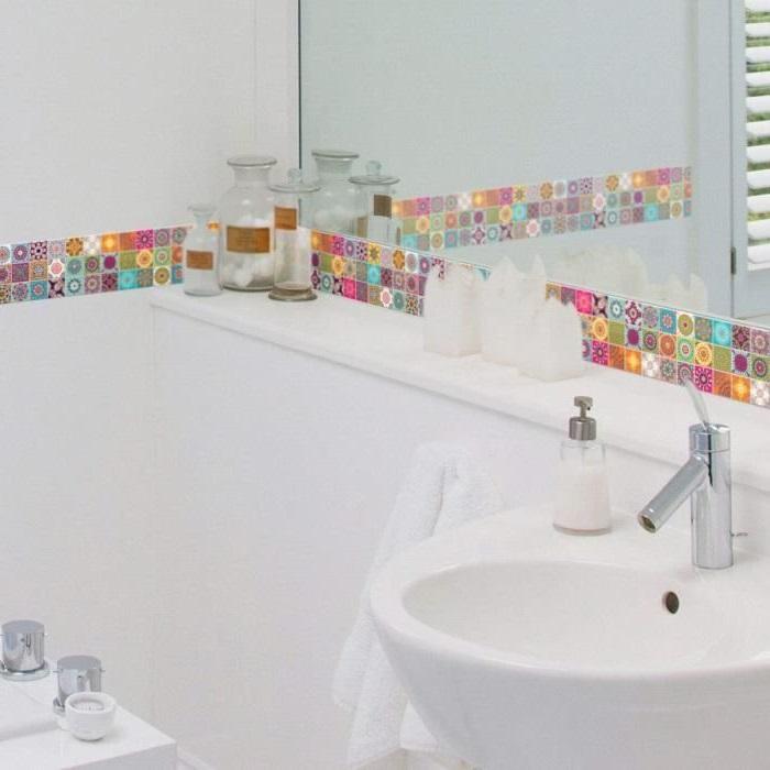 Carrelage Adhesif Les Meilleurs Modeles Pour Votre Salle De Bain