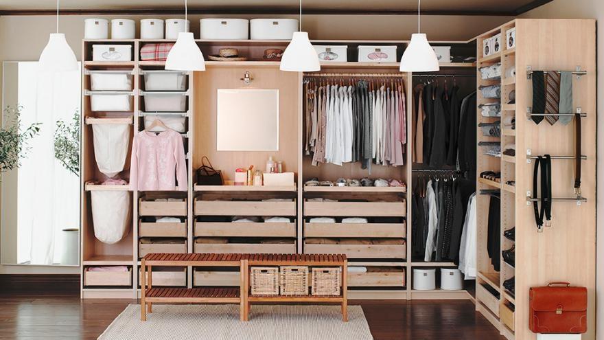 Quelle que soit la surface de votre grenier, des solutions pratiques et adaptées existent. Dressing Ikea 12 Modeles Pratiques Et Fonctionnels