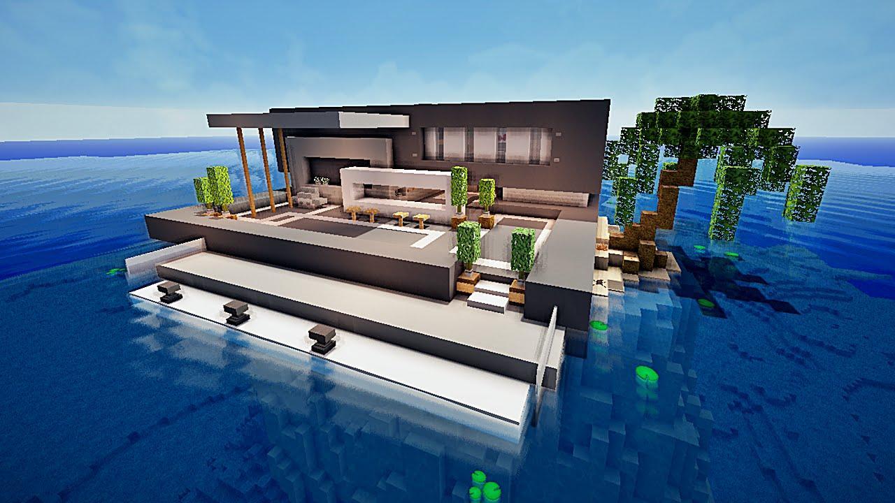 Maison Moderne Sur Minecraft Maison Moderne