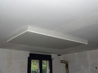 Faux plafond au dessus de l ilot de la cuisine la r novation de notre maison - Faux plafond design cuisine ...
