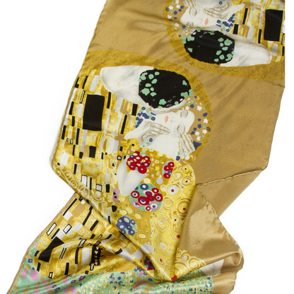 Silk Scarf Gustav Klimt Design The Kiss