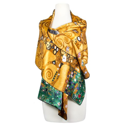 Silk Scarf Gustav Klimt Design Tree of Life