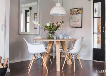 Ronde Tafel Scandinavisch Design.Eethoek Scandinavisch Scandinavisch Duplex Appartement Met Een
