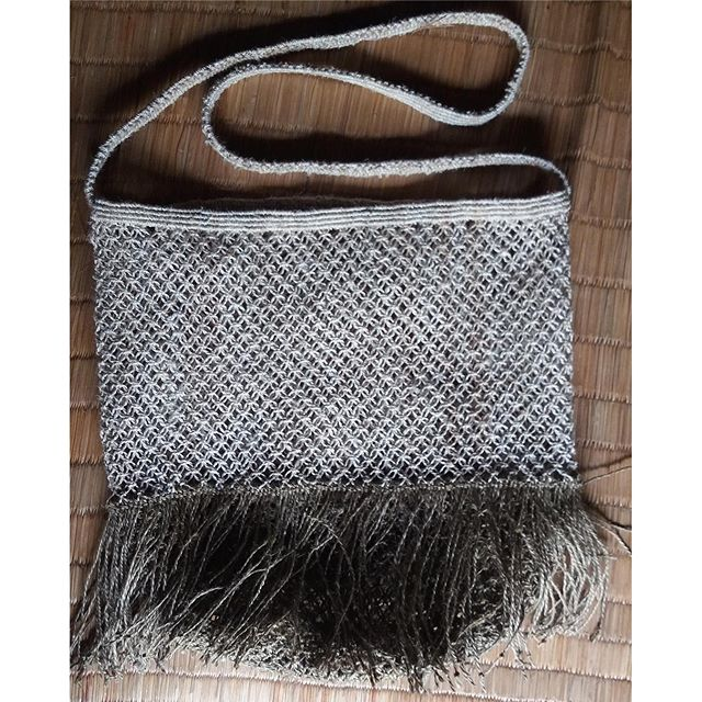 New jute macrame bag with fringes