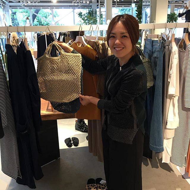 Jute macrame bags will travel - here they are for sale in Shinjuku district of Tokyo