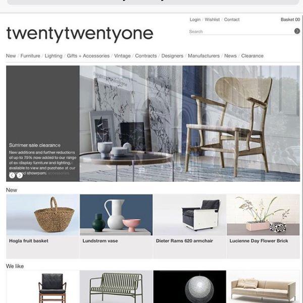 Very proud to be working with TwentyTwentyOne – one of the arbiters of great taste in design