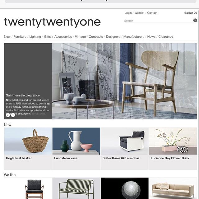 Very proud to be working with TwentyTwentyOne - one of the arbiters of great taste in design
