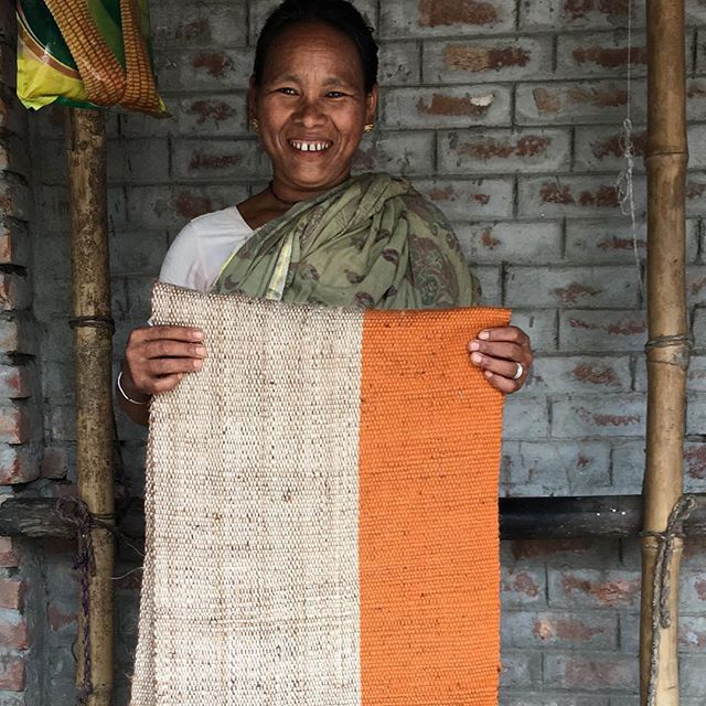 New orange stripe jute fabric appearing soon on @maisonbengal.co.uk