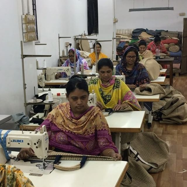Over 30 women are currently employed in the jute tailoring section alone in Dhaka
