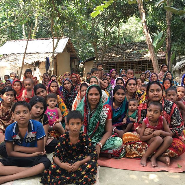 Under the mango trees this morning, meeting 45 newly trained macramé producers and their children in the village of Varukali, South West Bangladesh