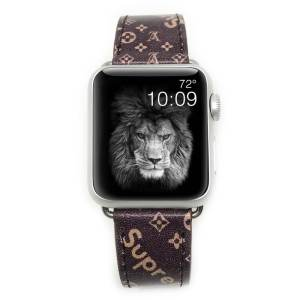 Louis Vuitton x Supreme BROWN Apple Watch Band