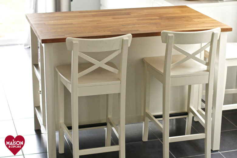 kitchen island table ikea cabinet hardware stenstorp review maison cupcake with ingolf bar stools
