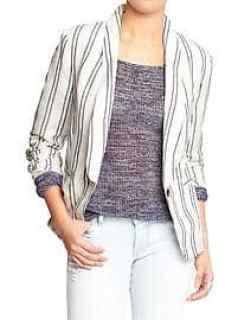 Women's Classic Linen-Blend Blazers