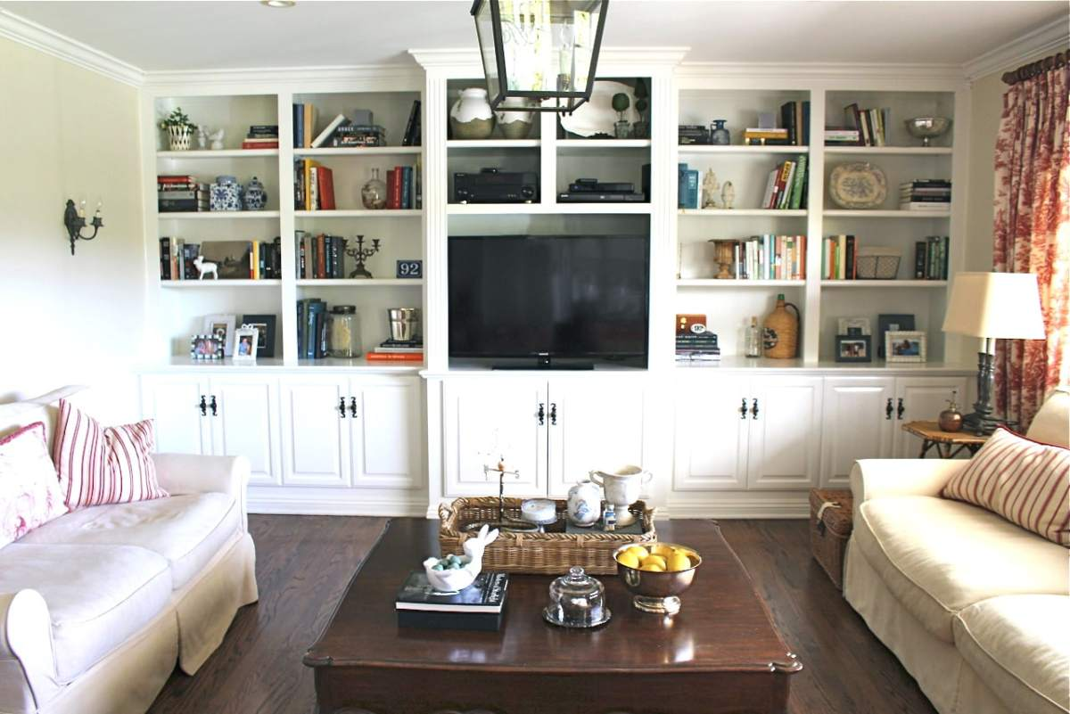 Family Room Built-In Rearrange