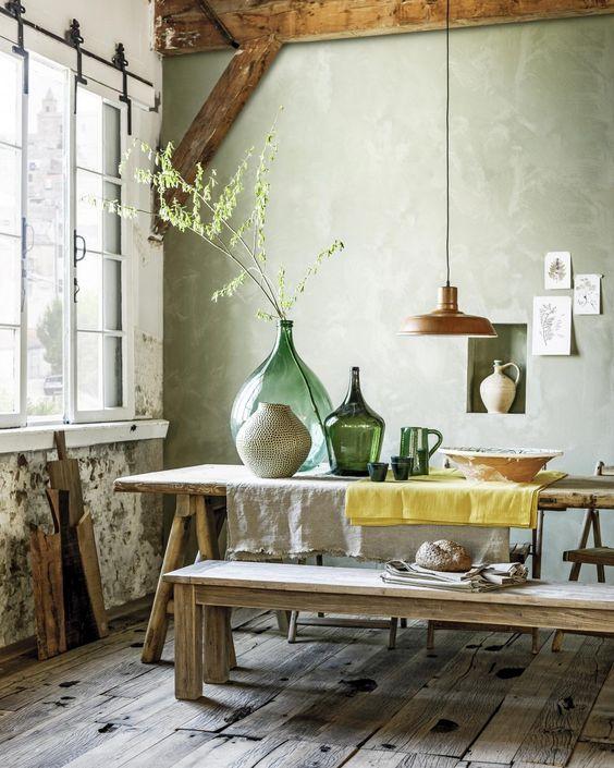 antique-demijohns-kitchen-table