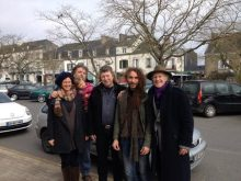photo avec David Giannoni, Nadia son épouse, Benjamin Potel et Marc Bernol