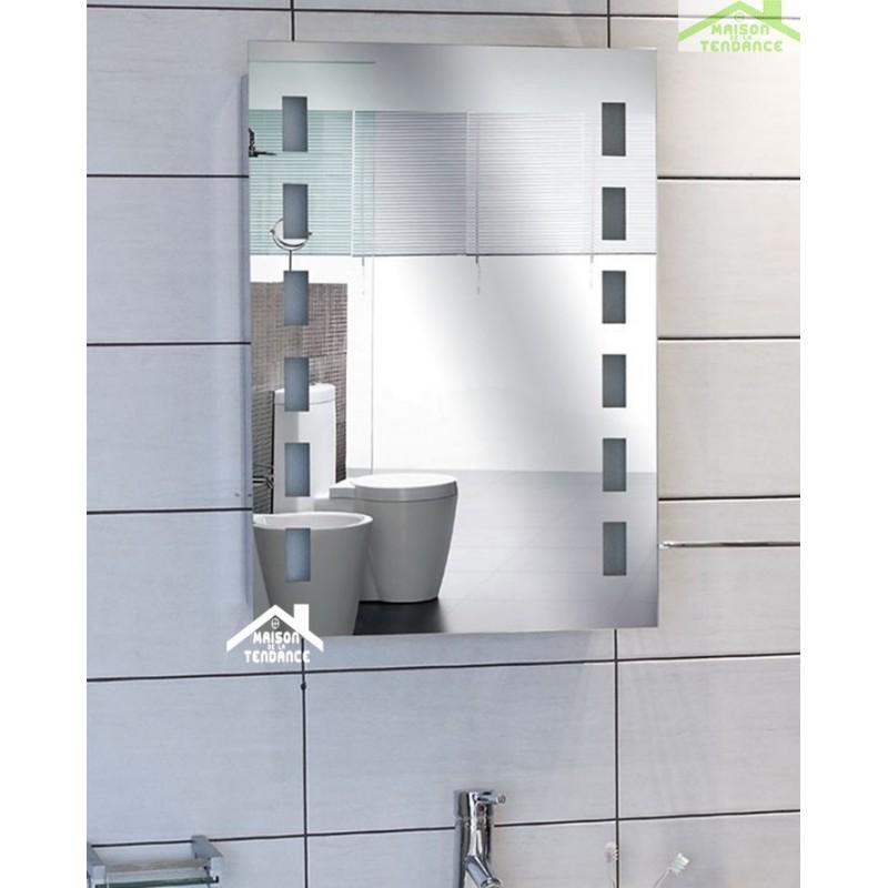 Miroir Salle De Bain Avec Lumiere armoire miroir avec lumi re coloris fr ne carbo achat miroir