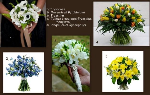 Bouquets de mariée printemps