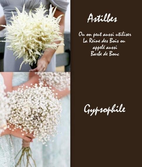 Bouquet de mariée blanc Crédit photo: Astilbes Onefabday / Gypsophile Bex Eaton