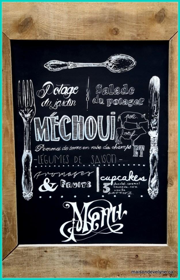 Tableau menu